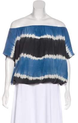 Joie Short Sleeve Silk Blouse