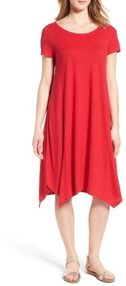 Petite Women's Eileen Fisher Hemp & Organic Cotton Handkerchief Dress $188 thestylecure.com