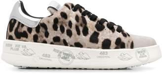 Premiata White leopard pattern sneakers