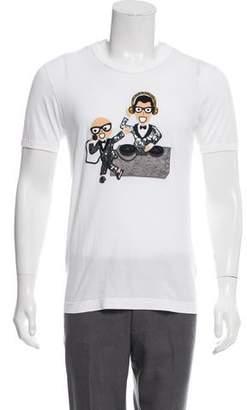 Dolce & Gabbana DJ Appliqué T-Shirt