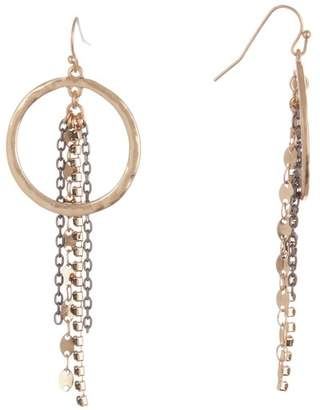 Melrose and Market Linear Chain with Hoop Drop Earrings