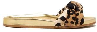 Charlotte Olympia - X Adriana Degreas Leopard Print Slides - Womens - Leopard