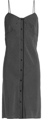 Rag & Bone Open-Back Striped Silk Dress