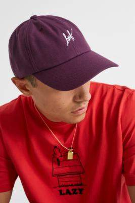HUF Script Logo Purple Cap - purple at Urban Outfitters