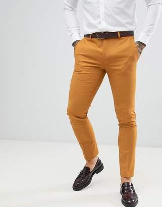 Twisted Tailor super skinny suit PANTS in mustard