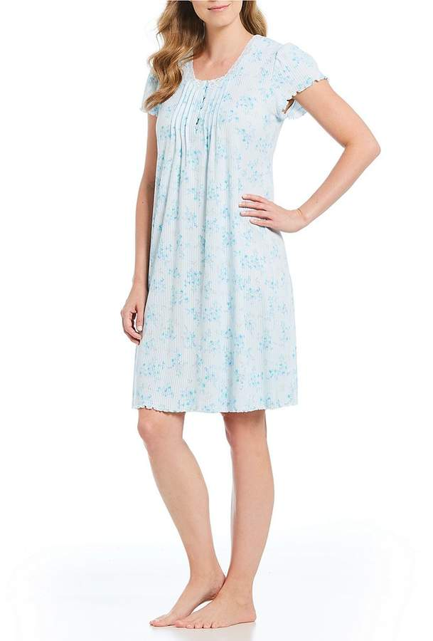 Miss Elaine Petite Floral-Print Silkyknit Nightgown