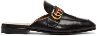 Gucci Black GG Princetown Slippers $670 thestylecure.com