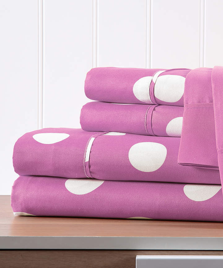 Pink Polka Dot Six-Piece Sheet Set