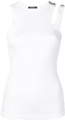 Balmain sleeveless ribbed top