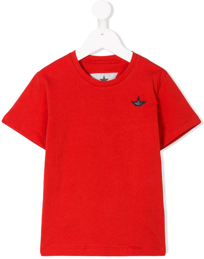 Macchia J Kids half star patch T-shirt