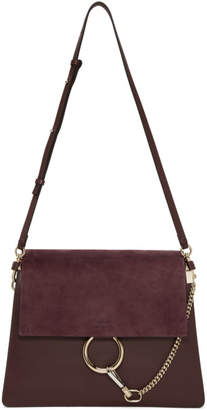 Chloé Burgundy Faye Medium Satchel