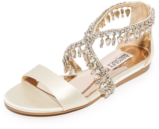 Badgley Mischka Tristen Embellished Sandals $195 thestylecure.com