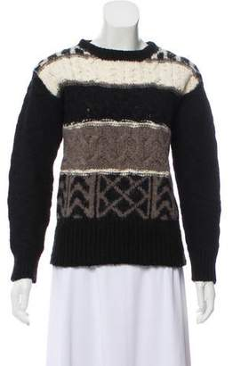 Adam Merino Wool Cable Knit Sweater