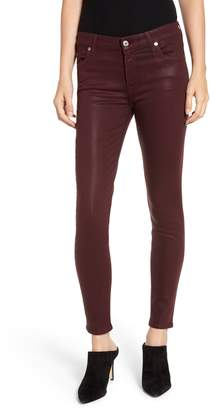 7 For All Mankind Coated Ankle Skinny Jeans
