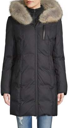 Soia & Kyo Women's Coyote Fur-Trimmed Puffer Coat