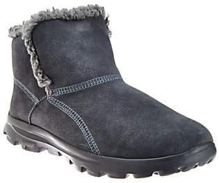 Skechers GOwalk Suede Faux Fur Boots w/ Memory FormFit-Imprint $63.72 thestylecure.com