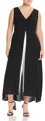 Adrianna Papell Plus Color-Block Overlay Jumpsuit
