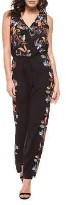 Dex Floral And Leaf Print Jumpsuit