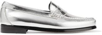 RE/DONE Weejuns The Whitney Metallic Leather Loafers - Silver