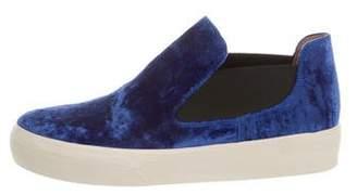 Dries Van Noten Velvet Slip-On Sneakers w/ Tags