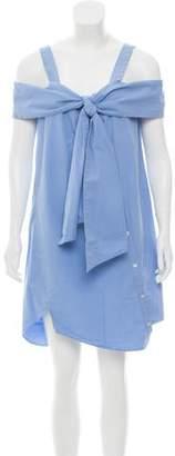 Clu Tie-Accented Mini Dress w/ Tags