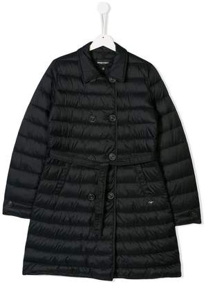 Emporio Armani Kids double-breasted padded coat