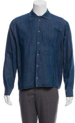 Burberry Denim Snap-Button Shirt