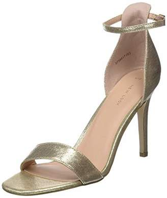 fd4536e2a85f New Look Women s Rocket Ankle Strap Heels (Gold 93)