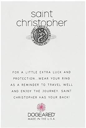 Dogeared St. Christopher Reminder Ring