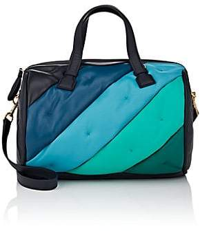 Anya Hindmarch Women's Chubby Colorblocked Leather Duffel Bag - Marine