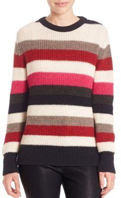 IRO Solal Striped Rib-Knit Sweater $265 thestylecure.com