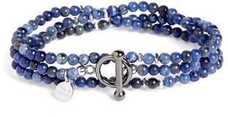 Lapis Finn & Taylor Lazuli Bead Wrap Bracelet