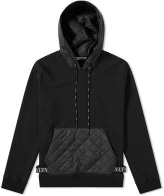 Valentino Popover Quilted Pouch Hoody