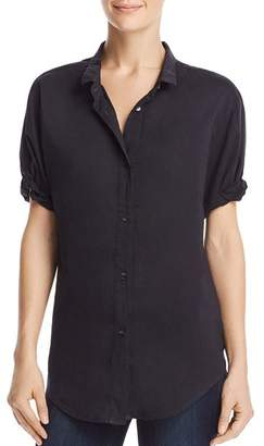 Splendid Short Sleeve Boyfriend Shirt