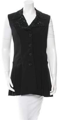 Anna Sui Bead-Embellished Sleeveless Vest
