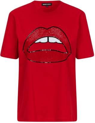 Markus Lupfer Cotton Sequined Alex Lip T-Shirt