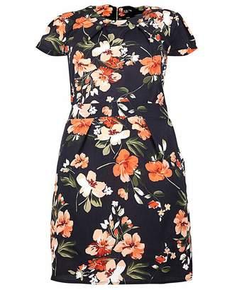 Izabel London Curve Floral Print Dress