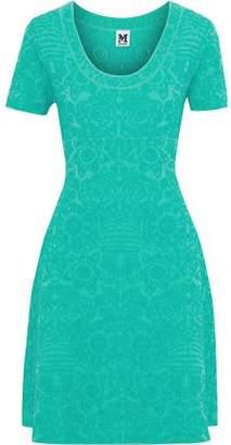 M Missoni Pleated Cloque-knit Dress