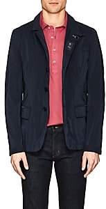 Fay Men's Tech-Taffeta Sportcoat-Style Raincoat-Navy