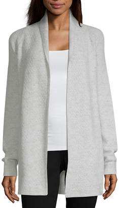 Liz Claiborne Casual Open Cardigan - Tall