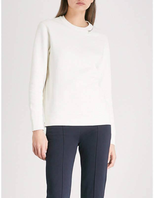 Zip-detail cotton-jersey sweatshirt