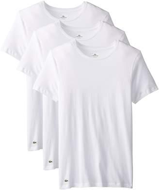 Lacoste Men's Essentials 3-Pack Cotton Crew Neck T-Shirt