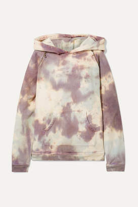 BRIGITTE TRE by Natalie Ratabesi - The Embellished Tie-dye Cotton-terry Hoodie - Lilac