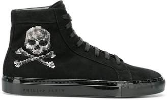 Philipp Plein Swarovski crystal skull sneakers