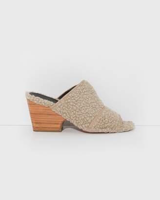 Rachel Comey Natural Faux Shearling Dahl Sandals