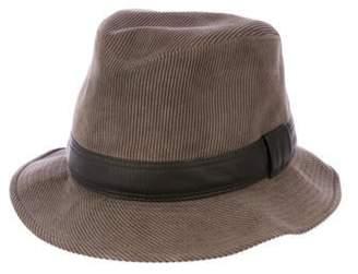 Hermà ̈s Corduroy Fedora Hat Brown Hermà ̈s Corduroy Fedora Hat