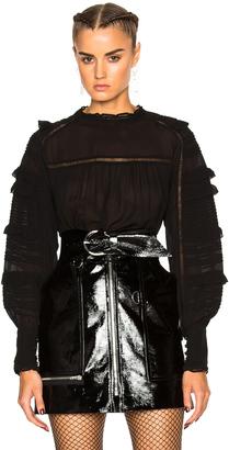Isabel Marant Qimper Silk & Lace Blouse $745 thestylecure.com