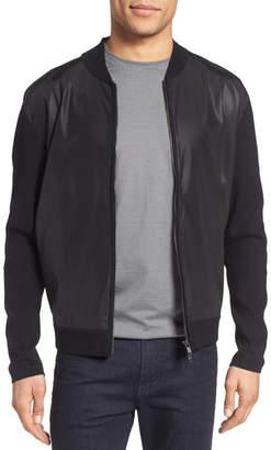 Theory Salleg Tech Combo Zip Sweater $345 thestylecure.com