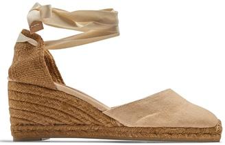 CASTAÑER Carina canvas espadrille wedge sandals $72 thestylecure.com