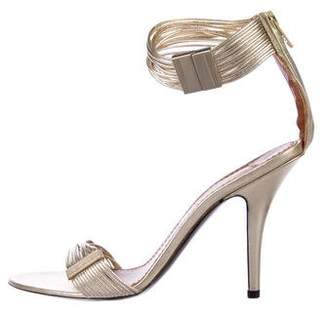 Givenchy Metallic Ankle Strap Sandals